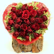 Букет роз 25 шт сердце