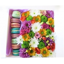 "Яркие цветы с ""Макаруни"""