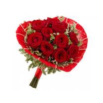 "Букет роз в каркасе ""Сердце"""
