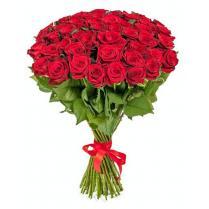 Букет из красной розы (51 шт)