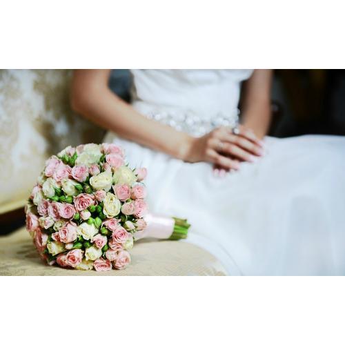 Букет невесты тюльпаны с кустовыми розами — photo 8
