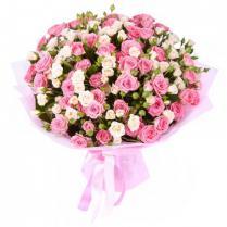 Букет из  кустовой розы (21 шт.)