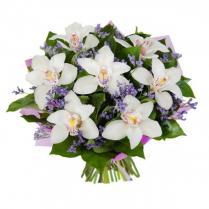 Букет из белой орхидеи.