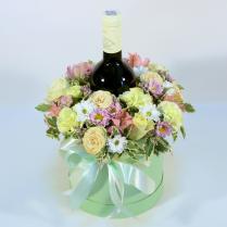 Коробка с вином в подарок