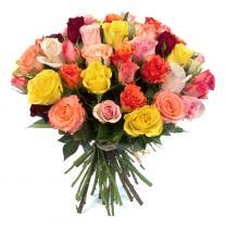 31 разноцветная роза