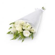 Букет из белой Эустомы (Лизиантуса)
