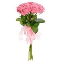 Букет из розовых роз (9 шт.)